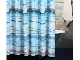 Teal Colored Shower Curtains Great Blue Sea Waterproof Fabric Shower Curtains Best