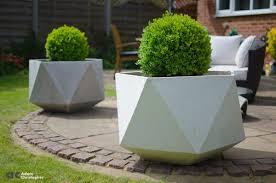 large concrete planter large origami concrete planters 1001 gardens