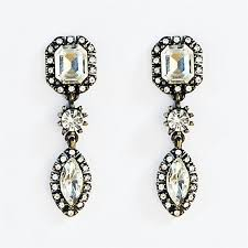 rhinestone earrings drop earrings dangle statement earrings with rhinestones