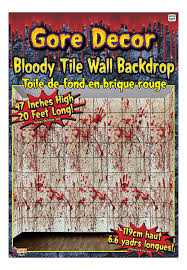 halloween scene setters amazon com forum novelties gore decor bloody tile wall backdrop