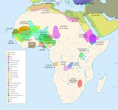 World War 2 In Europe And North Africa Map by Pre Colonial Map Of Africa Delineating Major Kingdoms Before