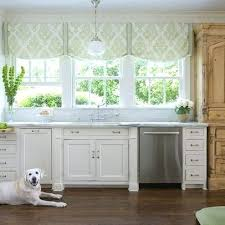 kitchen window above sink curtains large windowsill ideas