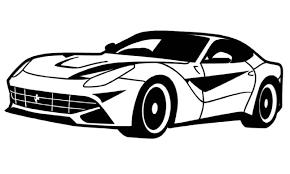 cars ferrari white drawn ferrari black and white pencil and in color drawn ferrari