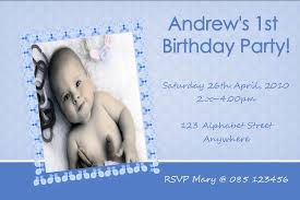 personalised birthday photo invitation boy design 1