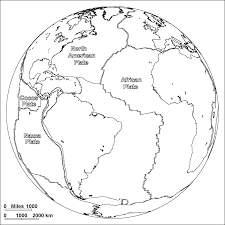 Map Of Continents And Oceans Plates Of The Atlantic Ocean