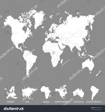 Europe Asia Map World Map Europe Asia America Africa Stock Vector 723681775