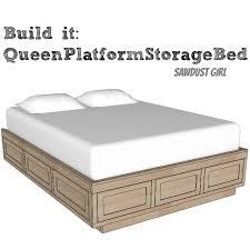 platform bed frame plans free home design ideas
