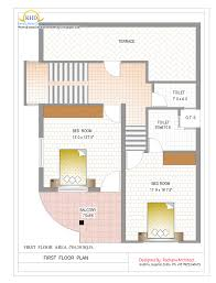 Double Story Floor Plans Double Story House Plan Floor Area 784 Square Feet Myhomemyzone Com