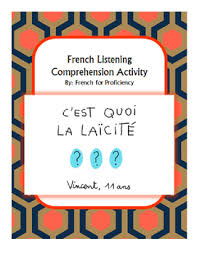 this french listening comprehension worksheet accompanies the