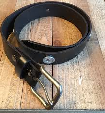 Best Man Gifts Mens Black Leather Shotgun Shell Accented Belt Fathers Day Groom