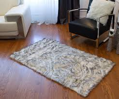 Sheepskin Area Rugs Union Rustic Shawnta Faux Sheepskin Gradient Gray Area Rug