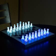 lumisource led glow chess set hayneedle