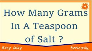 sea salt equivalent to table salt how many grams in a teaspoon of salt youtube