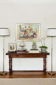 console tables amazing wood console table flanked by floor lamps