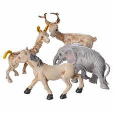 nativity figurines set of 4 animals 10cm sales on