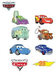 en couleurs à imprimer personnages célèbres walt disney cars