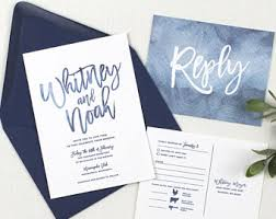 wedding invitations blue view wedding invitations by devondesignco on etsy