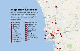 Gang Map Los Angeles by Fbi High Tech Theft Gang Stole Jeeps To Sell Across The Border