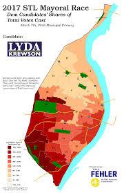Primary Map Understanding St Louis Democratic Mayoral Primary Results U2013 2017