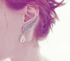 angel wing earrings angel wings earrings nickel free jewelry grey