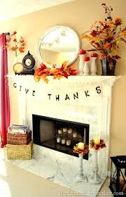 fall fireplace decor mantles decorating ideas tv above home