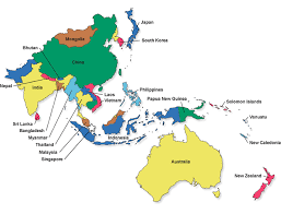 pacific region map the place of australia in the australia and it s global links