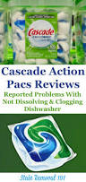 Consumer Reports Dishwasher Detergent Problems With Cascade Action Pacs Dishwasher Detergent