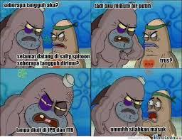 Meme Spongebob Indonesia - gambar plus kata kata lucu with my famiy pinterest kpop