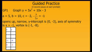 Factoring Trinomials Of The Form Ax2 Bx C Worksheet Answers Graphing Y U003dax2 Bx C Youtube