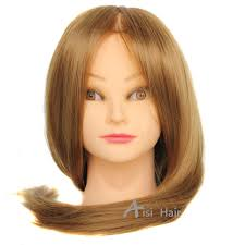 buy 18 u0026quot hair mannequin head hair fake hairdressing doll heads