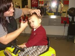 brian and kristin plus two first haircut