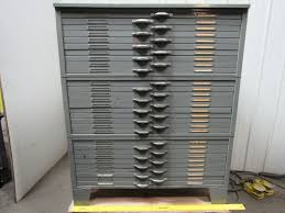 Wood Flat File Cabinet by Map Cabinet Ebay