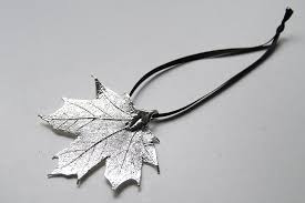 real maple leaf ornament electroformed nature fall leaf