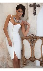 popular white zipper front dress buy cheap white zipper front
