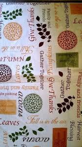 thanksgiving autumn harvest vinyl tablecloth 52x90 flannel back