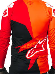 alpinestars red bright orange black 2017 sight contender long