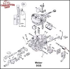 weber dgs carburetor parts