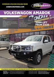 volkswagen amarok lifted dobinsons 4x4 complete 35mm lift kit vw amarok