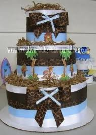 jungle animals diaper cake party jungle pinterest diapers