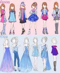 picture draw elsa anna