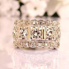 art deco style vintage engagement ring from ladyrosevintagejewel