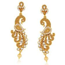 design of earing buy traditional kanoti style peacock design earring online best