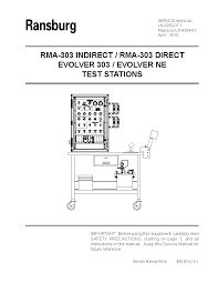 ransburg rma 570 robot mounted indirect service manuals