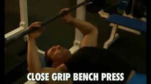 beginner workout triceps close grip bench press youtube