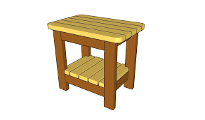 Wood Patio Side Table Outdoor Side Table Plans Howtospecialist How To Build Step By