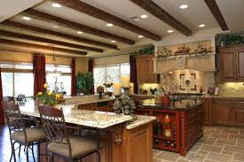 Oak Cabinets In Kitchen by Mediterranean Kitchen With Ring Top Panel Draperies By Milestone