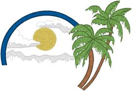 coconut trees embroidery design annthegran
