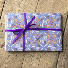 wrapping papers sewing wrapping paper by becka griffin illustration