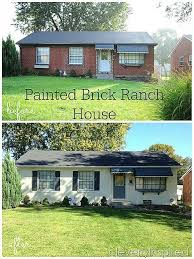 painting exterior brick home best 25 painted brick houses ideas on