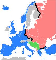Europe Map Ww2 by Map Of Europe After Ww2 Iron Curtain At 1945 Map Of Europe 1945